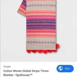 Opalhouse global striped throw blanket